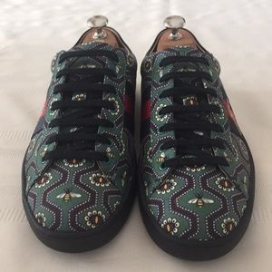 Gucci Ace Bee print men sneakers